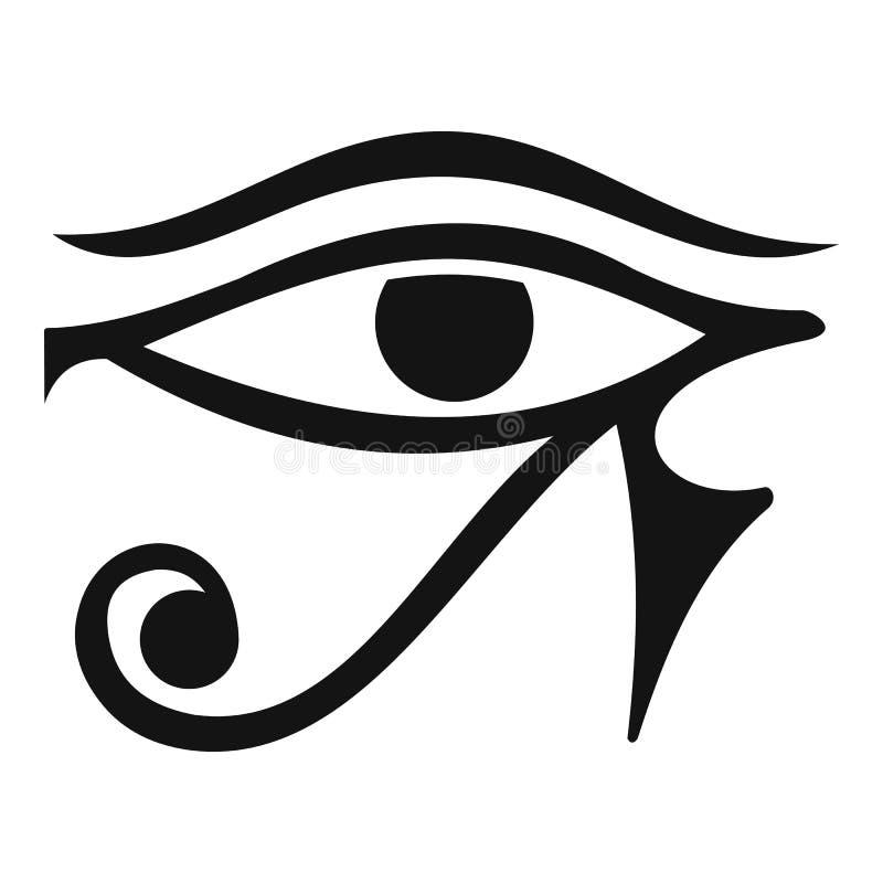 Öga av den Horus Egypten gudsymbolen, enkel stil stock illustrationer
