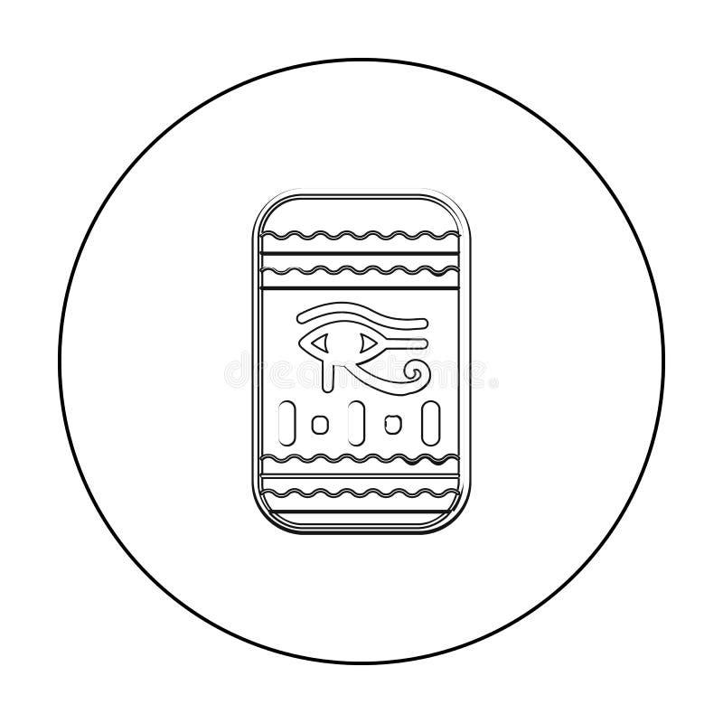 Öga av den Horus symbolen i översiktsstil som isoleras på vit bakgrund Illustration för vektor för forntida Egypten symbolmaterie royaltyfri illustrationer