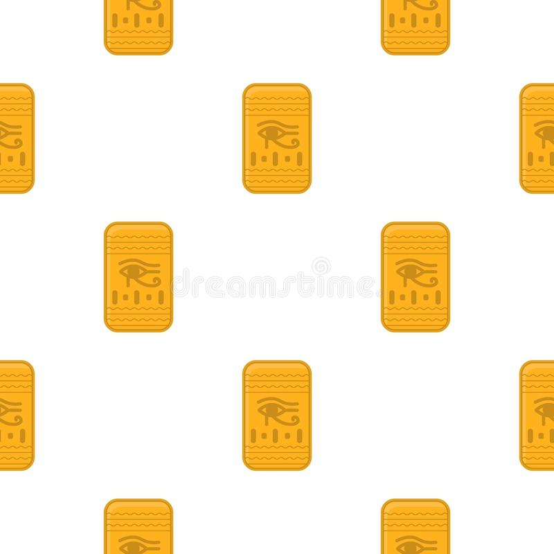 Öga av den Horus symbolen i tecknad filmstil som isoleras på vit bakgrund royaltyfri illustrationer