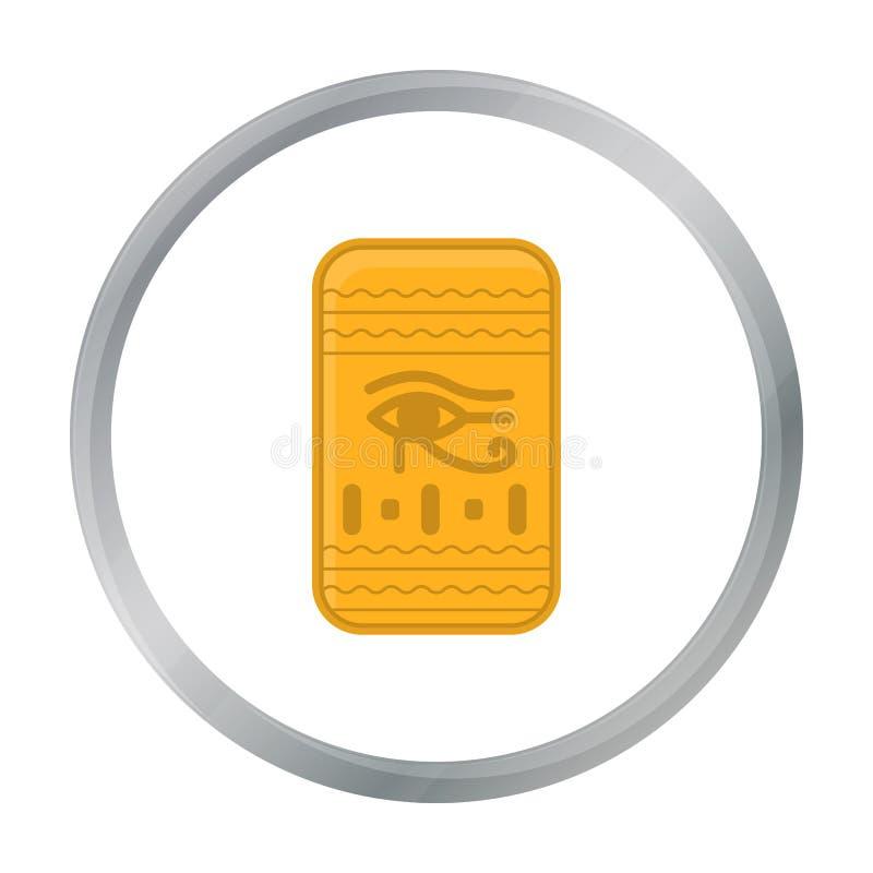 Öga av den Horus symbolen i tecknad filmstil som isoleras på vit bakgrund Illustration för vektor för forntida Egypten symbolmate vektor illustrationer