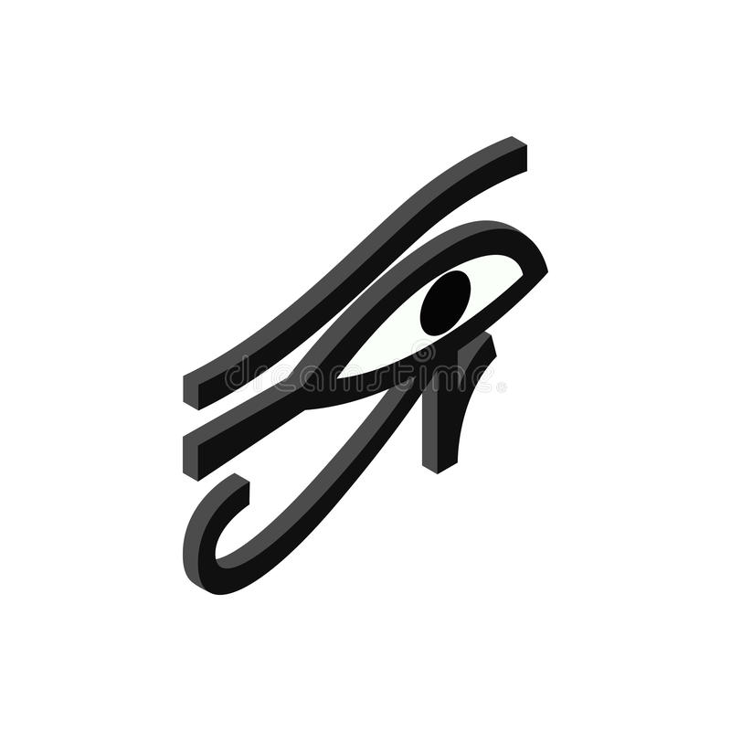 Öga av den Horus symbolen, isometrisk stil 3d royaltyfri illustrationer
