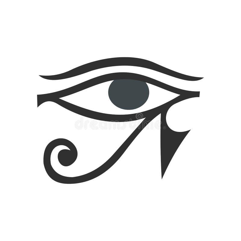 Öga av den Horus symbolen, lägenhetstil vektor illustrationer
