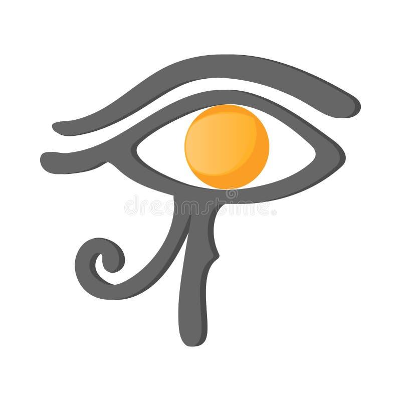 Öga av den Horus symbolen, tecknad filmstil royaltyfri illustrationer