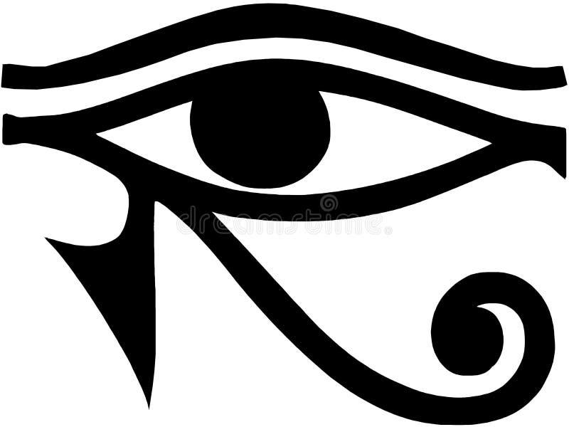 Öga av det Horus egyptiersymbolet royaltyfri illustrationer
