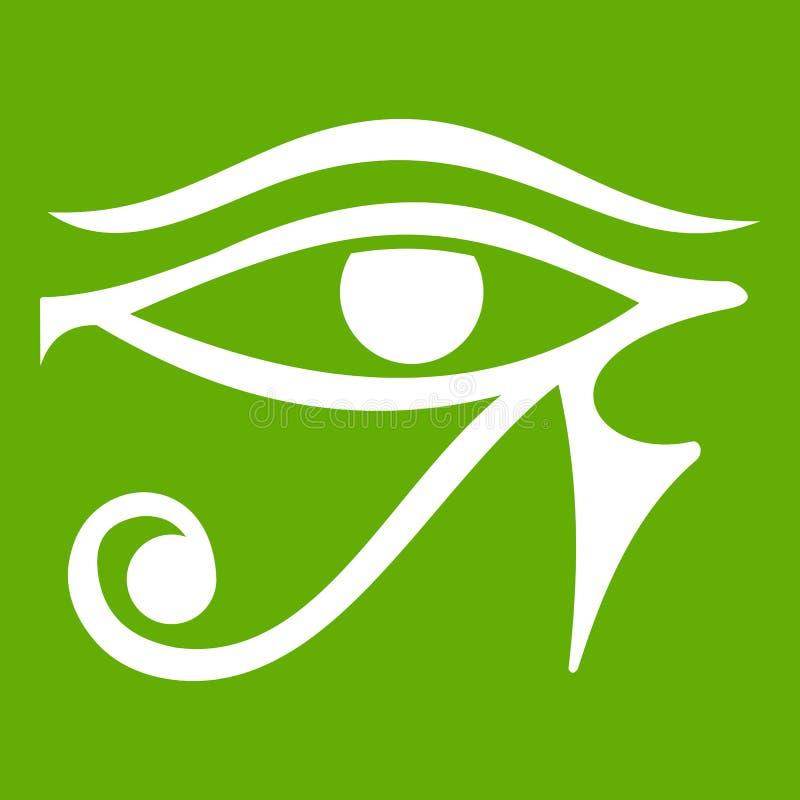 Öga av gräsplan för Horus Egypten gudsymbol stock illustrationer