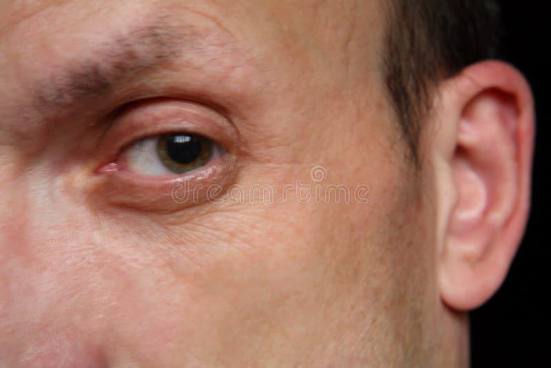 Öga av mannen arkivfoton