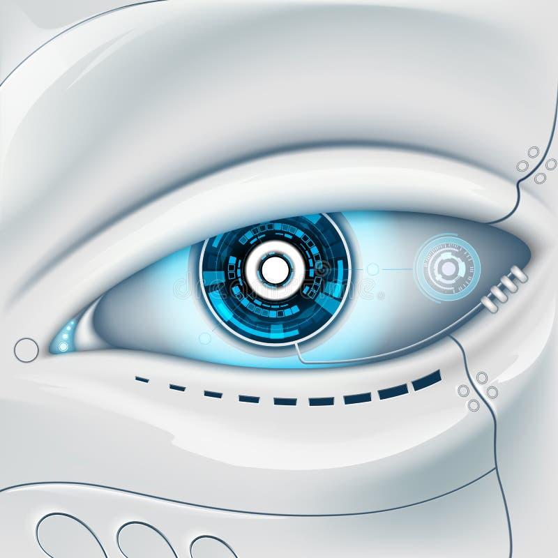 Öga av roboten vektor illustrationer