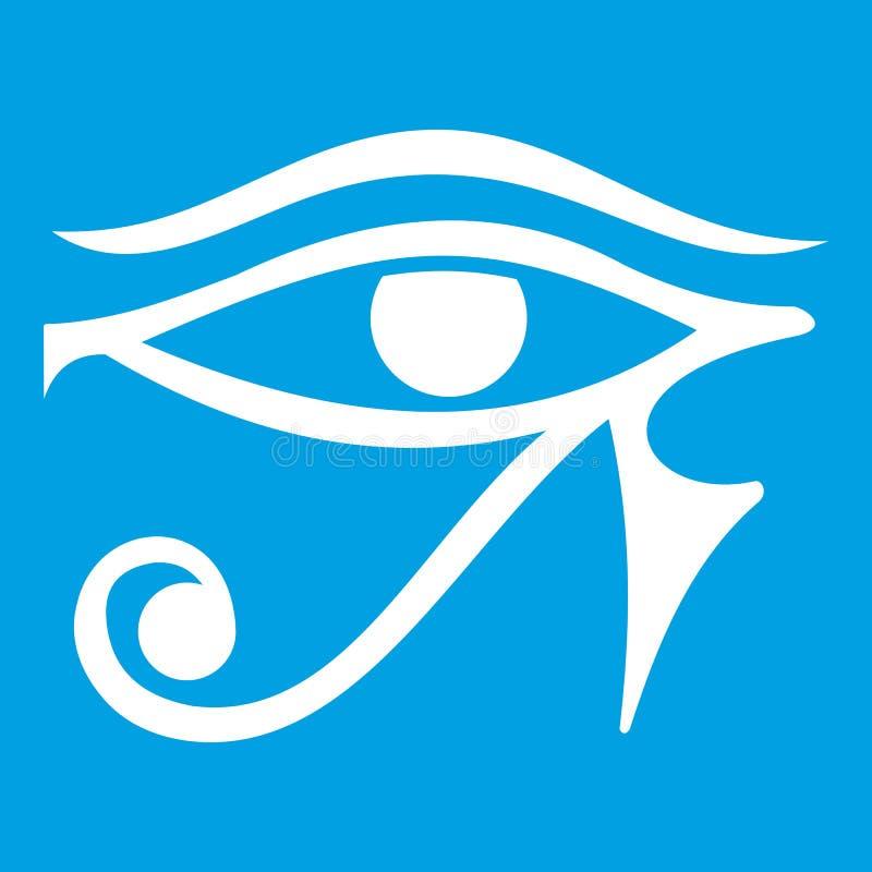 Öga av vit för Horus Egypten gudsymbol vektor illustrationer