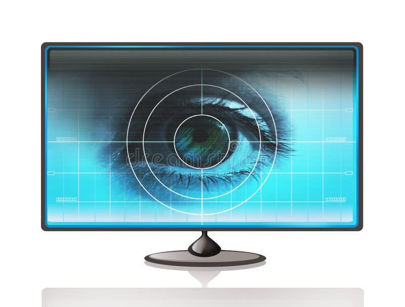öga för datorskärm arkivfoton