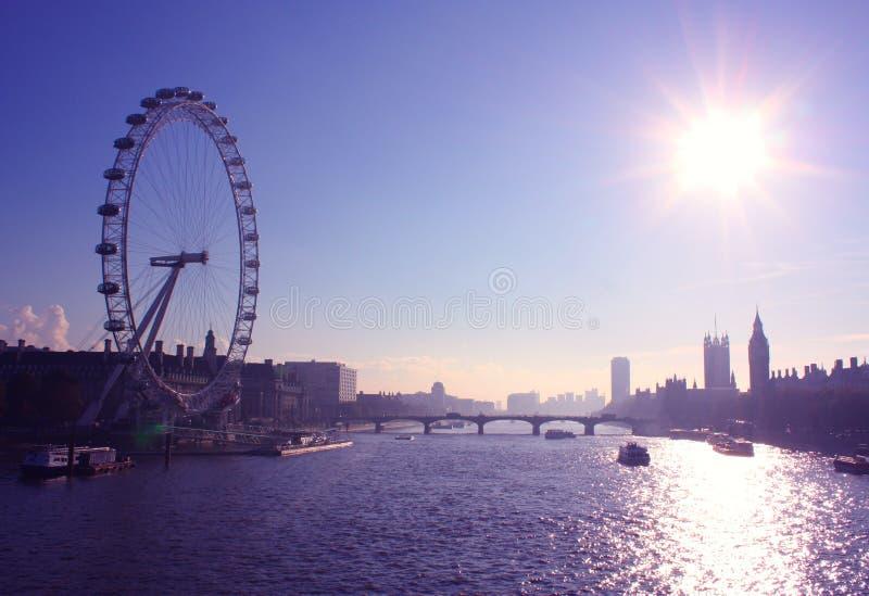 öga london arkivfoto