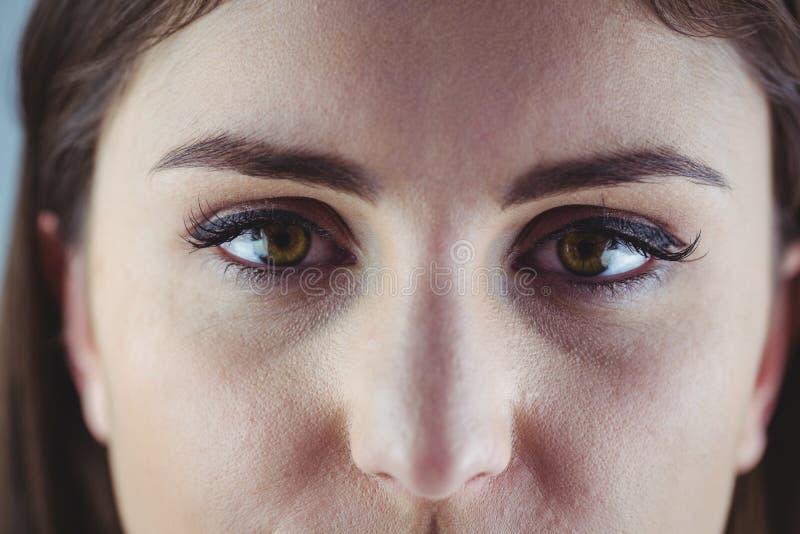 Öga med eyeliner och ögonskugga royaltyfria foton