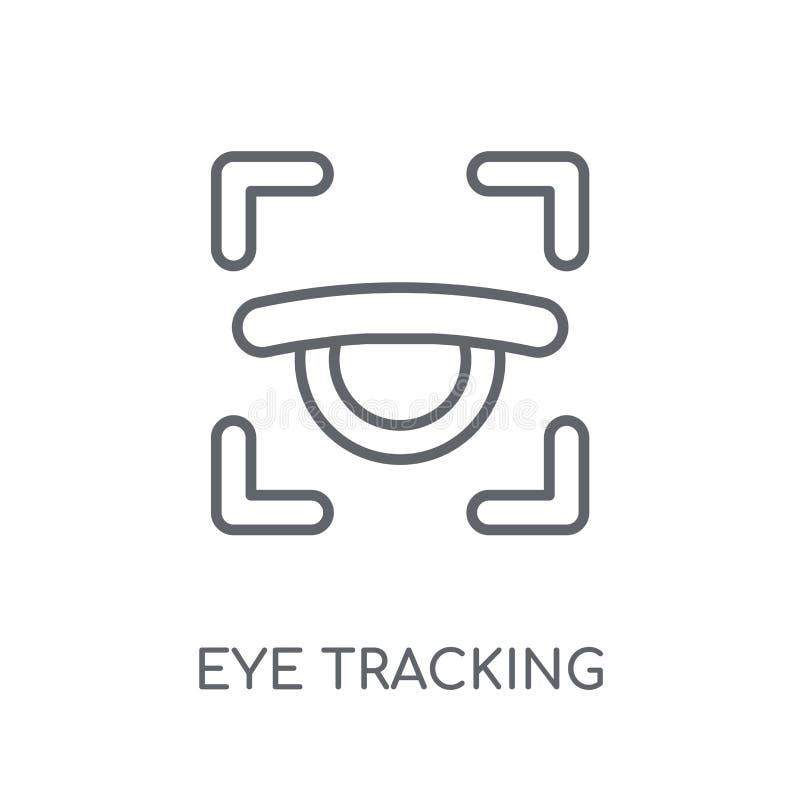 Öga som spårar den linjära symbolen Conce för logo för modernt översiktsöga spårande royaltyfri illustrationer