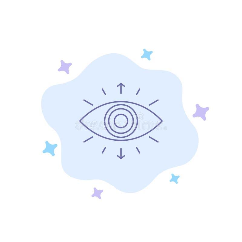 Öga symbol, hemligt samhälle, medlem, blå symbol på abstrakt molnbakgrund vektor illustrationer