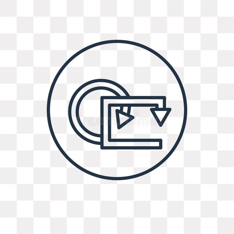 Öglasvektorsymbol som isoleras på genomskinlig bakgrund, linjär ögla vektor illustrationer