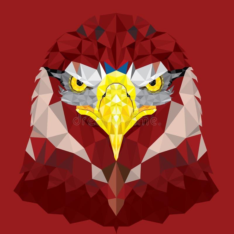 Ögon av Eagle med den geometriska modellen vektor illustrationer