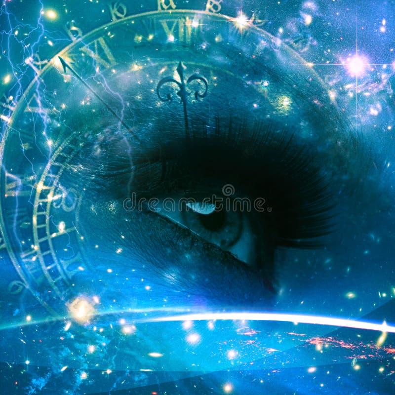 Ögon av universumet royaltyfri illustrationer