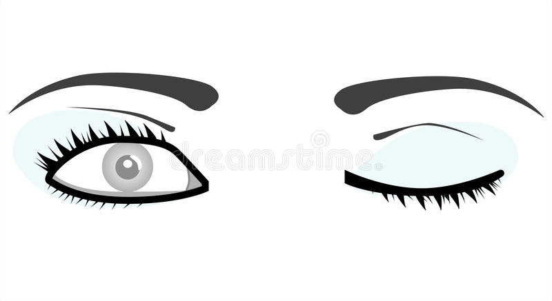 ögon isolerade den vita kvinnan vektor illustrationer