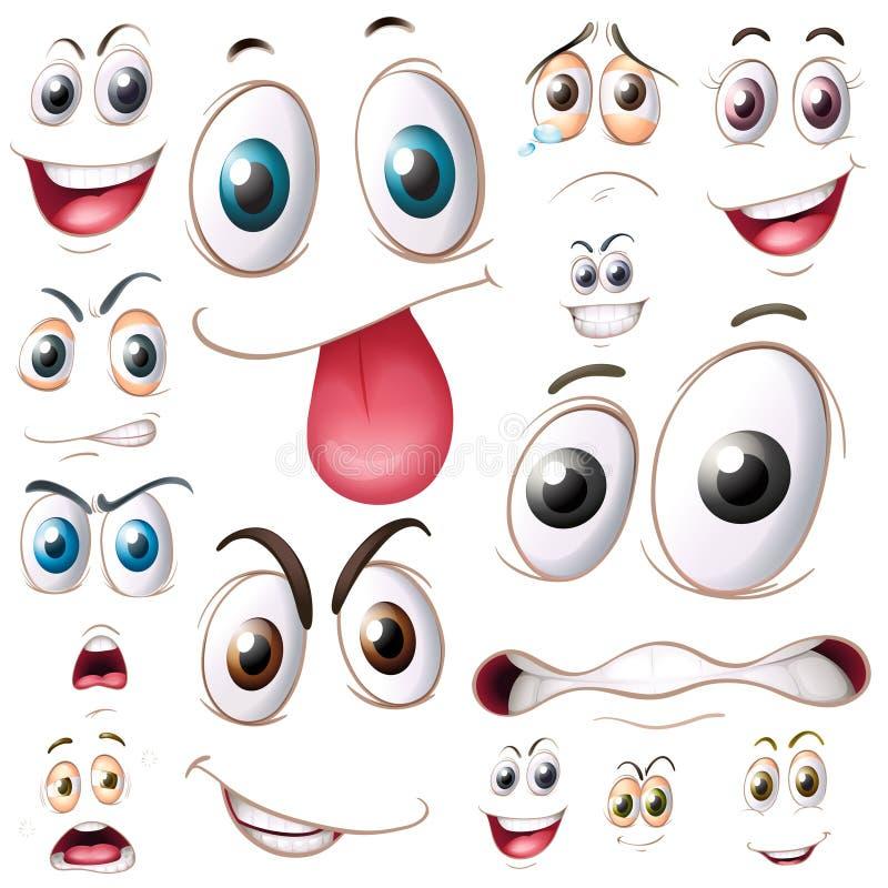 ögon ställde in stock illustrationer