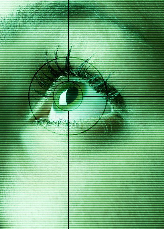 ögonbildläsning arkivfoto