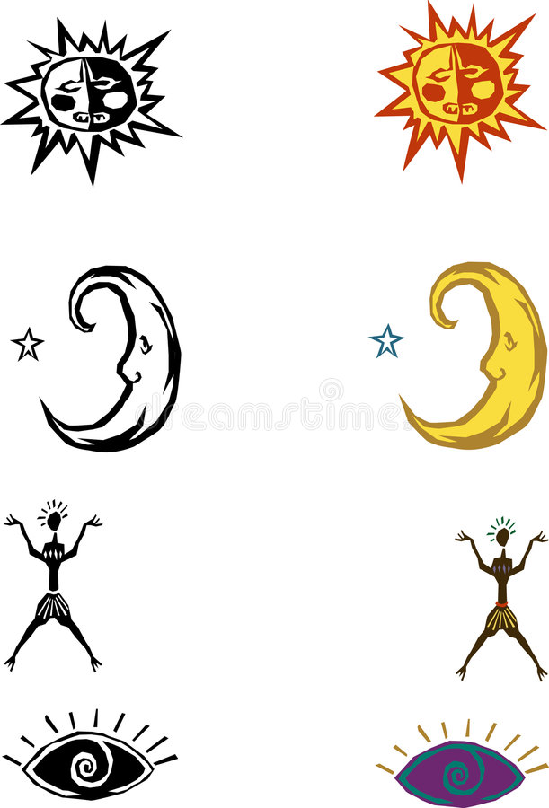 ögondiagram moonsun stock illustrationer