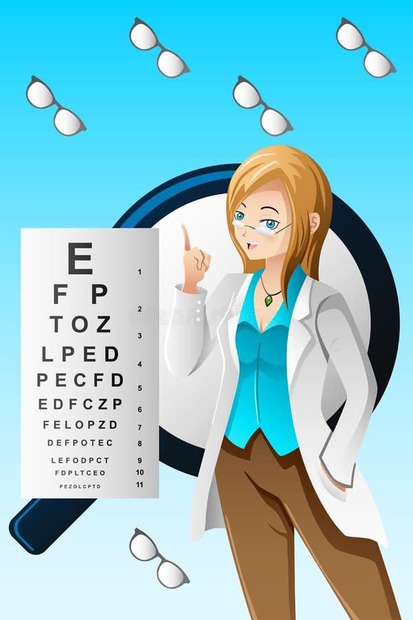Ögondoktor stock illustrationer