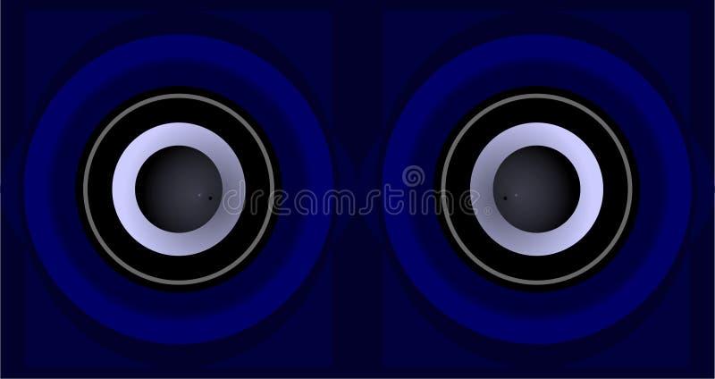 Ögonen av musik royaltyfri illustrationer