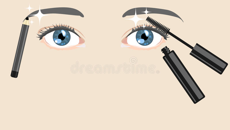 Ögoneyeliner vektor illustrationer
