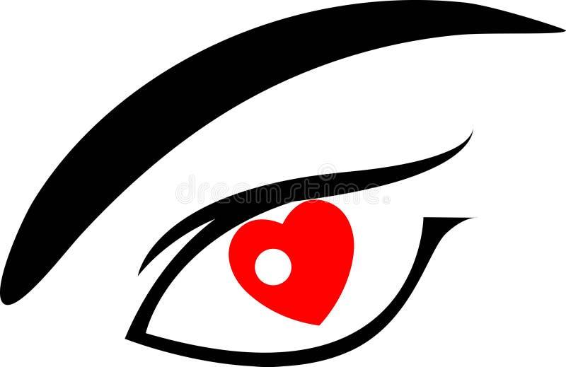 ögonförälskelse royaltyfri illustrationer
