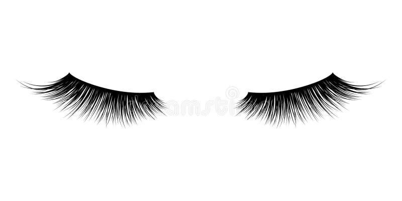 Ögonfrans- eller snärtmascaravektorsymboler royaltyfri illustrationer
