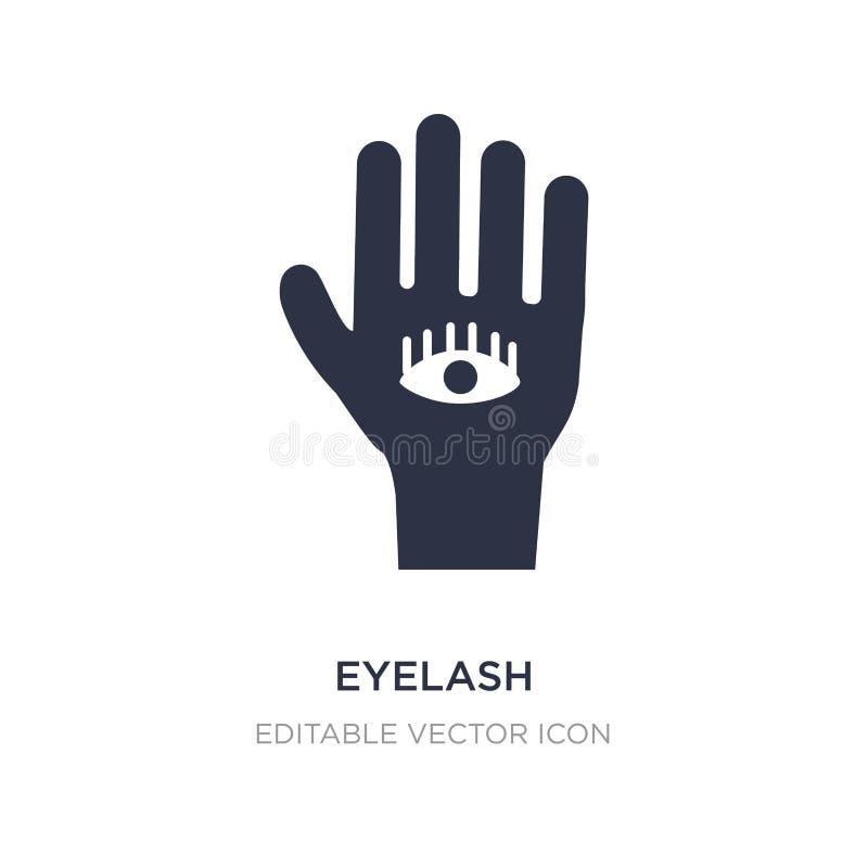 ögonfranssymbol på vit bakgrund Enkel beståndsdelillustration från det Guestures begreppet stock illustrationer