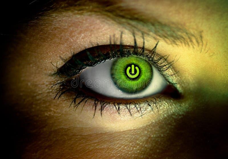 ögonhuman arkivfoto