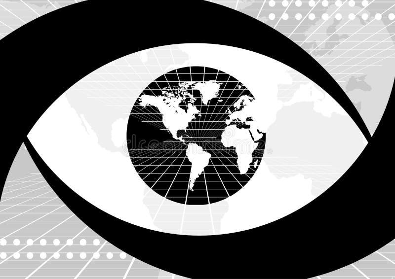 ögonjordklotvärld royaltyfri illustrationer
