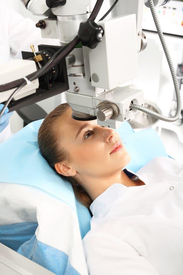 Ögonkirurgi, syncentral royaltyfria bilder