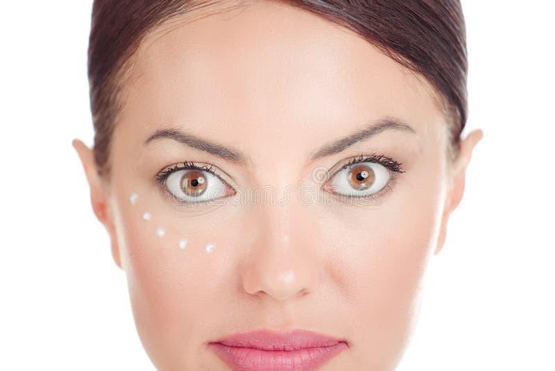 Ögonkrämbegrepp fotografering för bildbyråer