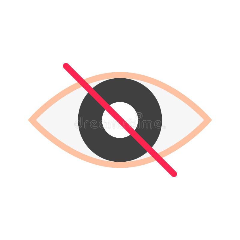Ögonkvartervektor, plan stilsymbol för socialt massmedia stock illustrationer