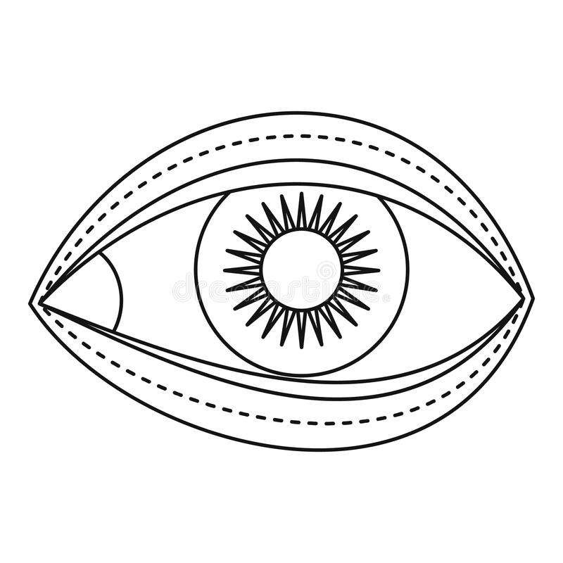 Ögonlockkirurgisymbol, översiktsstil stock illustrationer