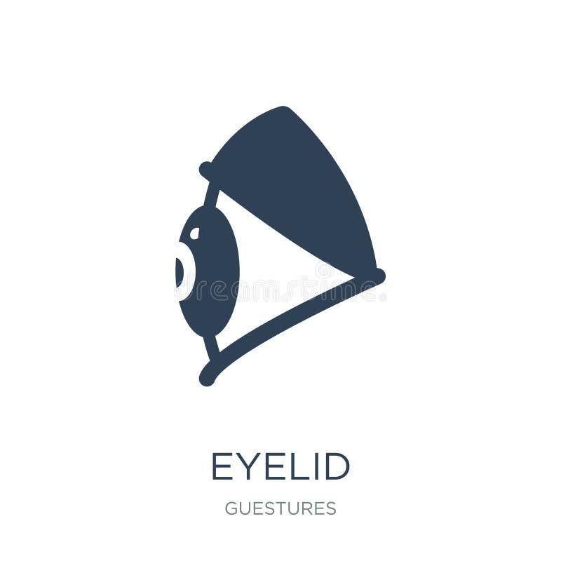ögonlocksymbol i moderiktig designstil ögonlocksymbol som isoleras på vit bakgrund enkelt och modernt plant symbol för ögonlockve vektor illustrationer