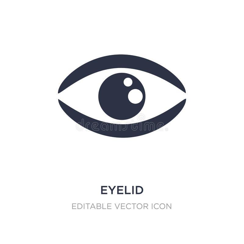 ögonlocksymbol på vit bakgrund Enkel beståndsdelillustration från det Guestures begreppet vektor illustrationer