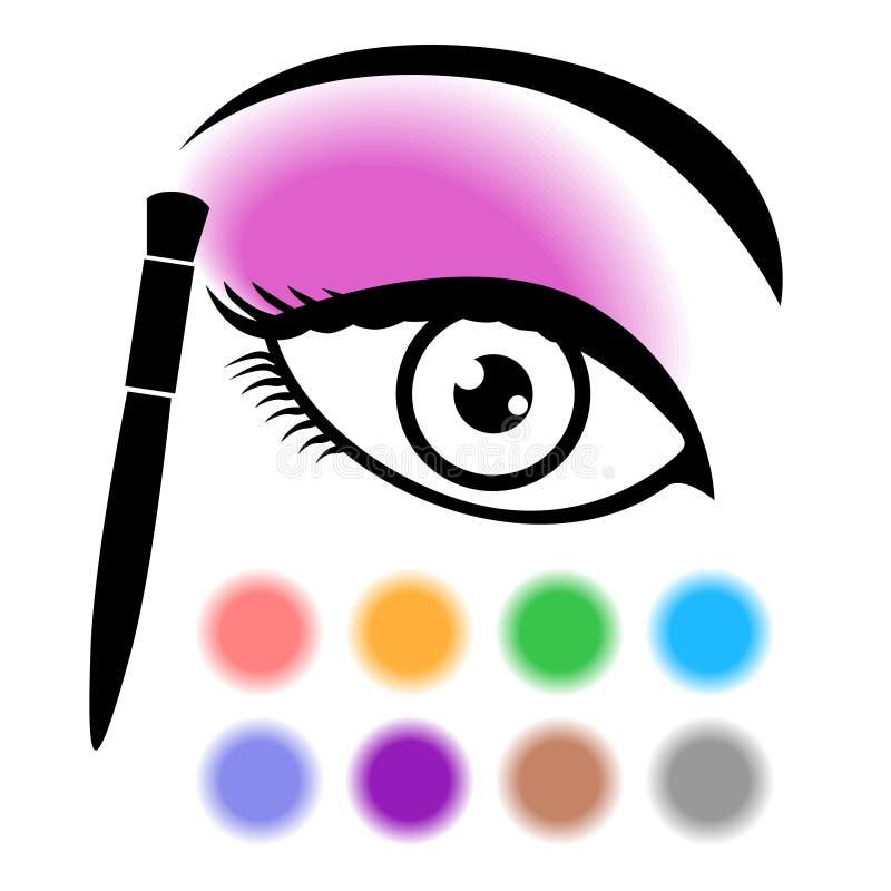 Ögonmakeupsymbol vektor illustrationer