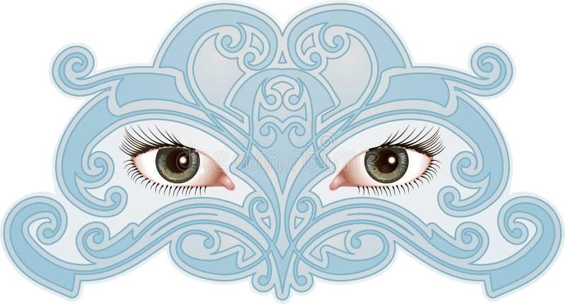 ögonmodell stock illustrationer