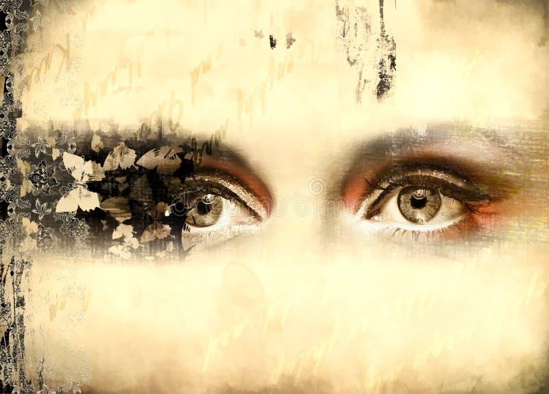 ögonrörelse arkivfoto