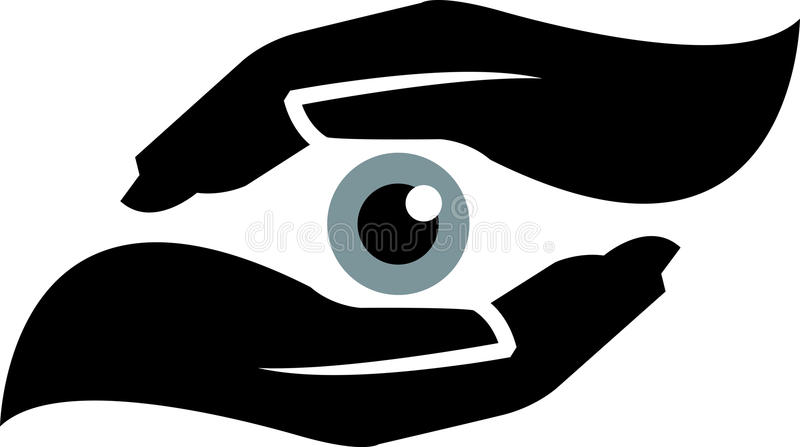 ögonsäkerhet stock illustrationer