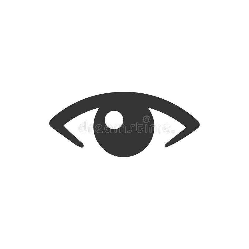 Ögonsymbol royaltyfri illustrationer