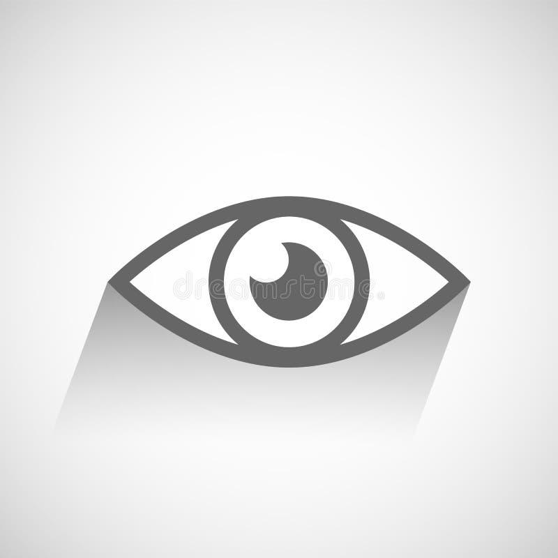 Ögonsymbol vektor illustrationer