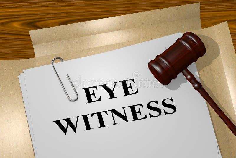 Ögonvittne - lagligt begrepp stock illustrationer
