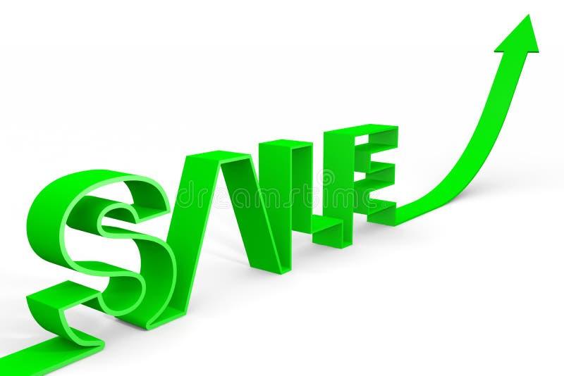 öka försäljningen vektor illustrationer