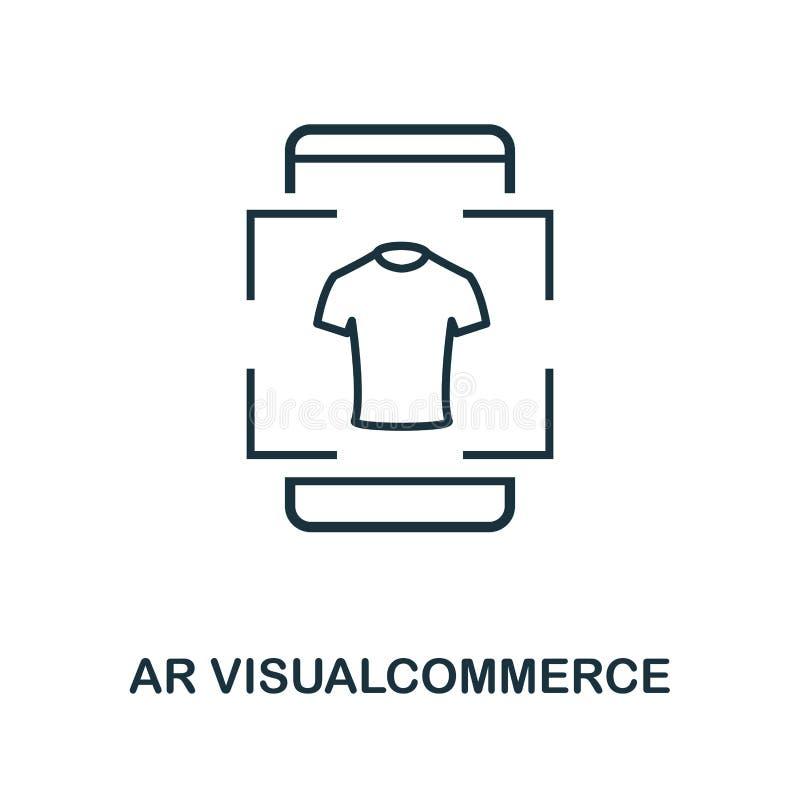 Ökad verklighetkommerssymbol Monokrom stildesign från visuell apparatsymbolssamling Ui Perfekt enkel pictogramau för PIXEL royaltyfri illustrationer
