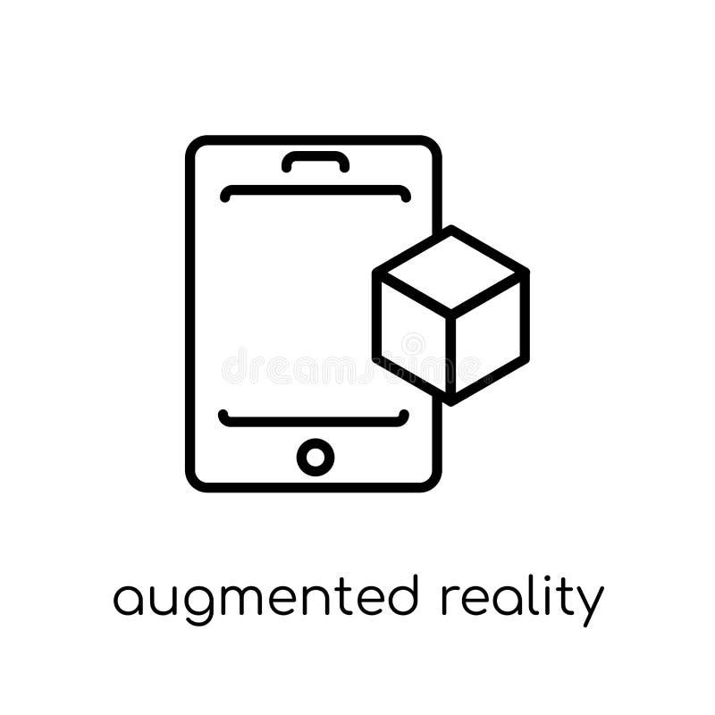 Ökad verklighetsymbol  stock illustrationer