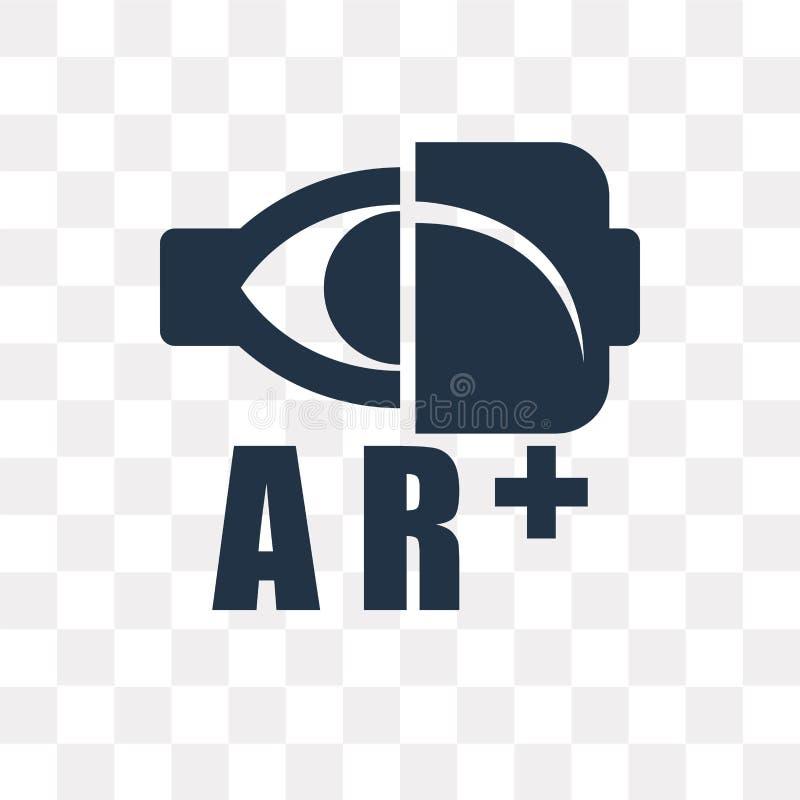 Ökad verklighetvektorsymbol som isoleras på genomskinlig bakgrund stock illustrationer