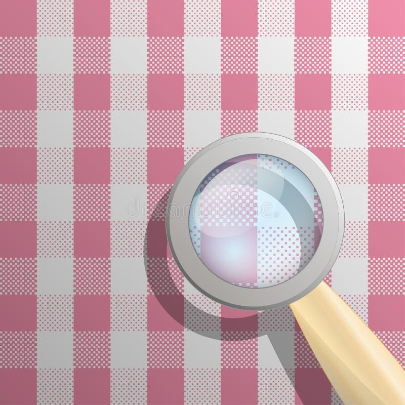 ökande tablecloth vektor illustrationer